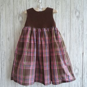 Gap Corduroy Plaid Sleeveless Dress Size 5
